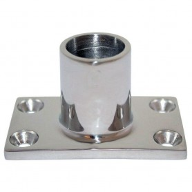 Whitecap - O-D- 90 Degree Rectangle Base SS Rail Fitting