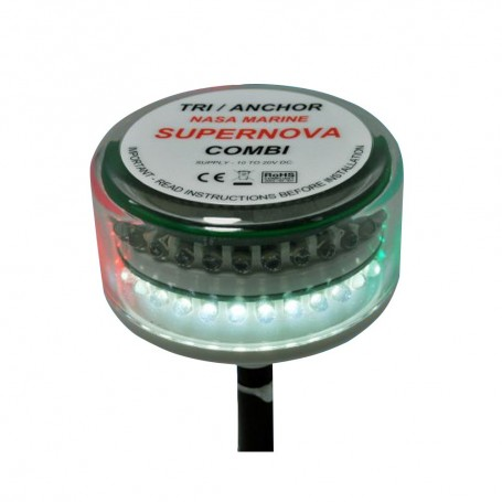 Clipper Supernova Combi LED Tricolor Masthead Anchor Light