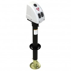 Bulldog 3-500lbs A-Frame RV Jack w-Powered Drive - 12V - White Cover