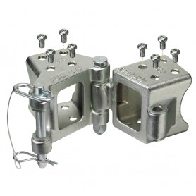Fulton Fold-Away Bolt-On Hinge Kit 3- x 3- Trailer Beam- Rating 5-000 lbs-- 48- Pivot- Z-Max 600 Zinc Finish