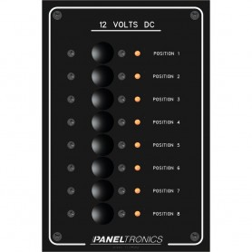 Paneltronics Standard Panel - DC 8 Position Circuit Breaker w-LEDs