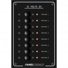 Paneltronics Standard Panel - DC 8 Position Circuit Breaker w-LEDs