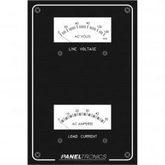 Paneltronics Standard Panel AC Meter - 0-150 AC Voltmeter - 0-50Amp Ammeter
