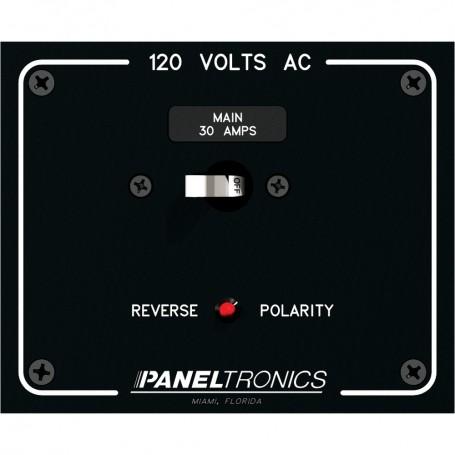 Paneltronics Standard Panel AC Main Double Pole w-30Amp CB - Reverse Polarity Indicator