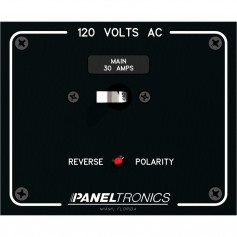 Paneltronics Standard Panel AC Main Double Pole w-30Amp CB - Reverse Polarity Indicator