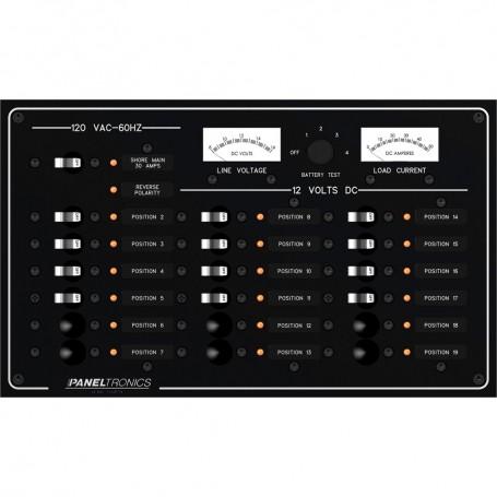 Paneltronics Standard Panel - AC-DC 19 Position Circuit Breaker w-Meters - LEDs