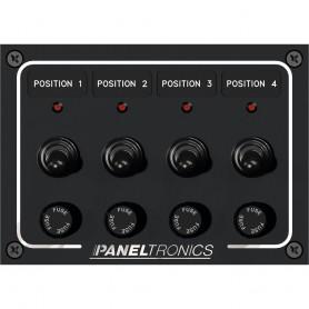 Paneltronics Waterproof Panel - DC 4-Position Toggle Switch - Fuse w-LEDs