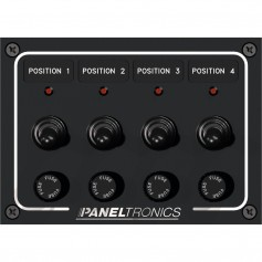 Paneltronics Waterproof Panel - DC 4-Position Toggle Switch - Fuse w-LEDs