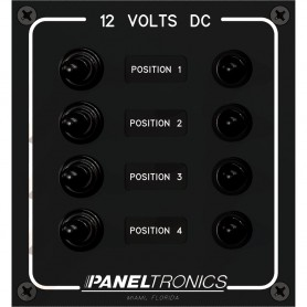 Paneltronics Waterproof Panel - DC 4-Position Toggle Switch - Circuit Breaker