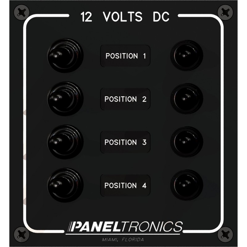 Paneltronics Waterproof Panel - DC 4-Position Toggle Switch - Circuit Breaker