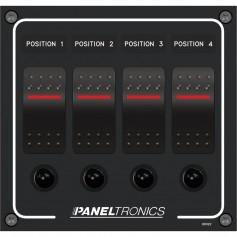 Paneltronics Waterproof Panel - DC 4-Position Illuminated Rocker Switch - Circuit Breaker