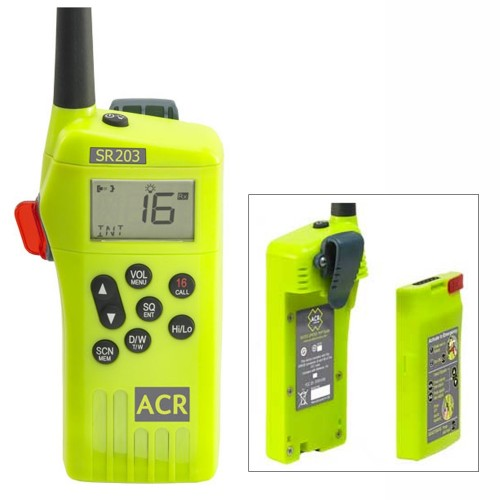 ACR SR203 GMDSS Survival Radio w-Replaceable Lithium Battery
