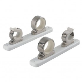 TACO 2-Rod Hanger w-Poly Rack - Polished Stainless Steel