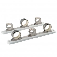 TACO 3-Rod Hanger w-Poly Rack - Polished Stainless Steel