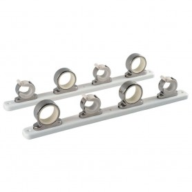 TACO 4-Rod Hanger w-Poly Rack - Polished Stainless Steel