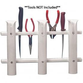 TACO 3-Rod Poly Rod Rack - White