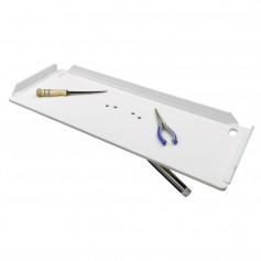 TACO 32- Poly Filet Table w-Adjustable Gunnel Mount - White