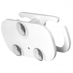 TACO 2-Drink Poly Cup Holder w-Suction Cup Mounts - White