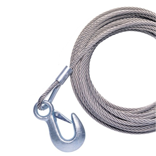 Powerwinch 20- x 7-32- Replacement Galvanized Cable w-Hook f-215- 315 - T1650
