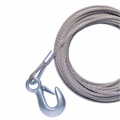 Powerwinch 40- x 7-32- Replacement Galvanized Cable w-Hook f-RC30- RC23- 712A- 912- 915- T2400 - AP3500