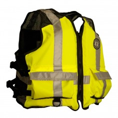 Mustang High Visibility Industrial Mesh Vest - SM-MED - Yellow-Black
