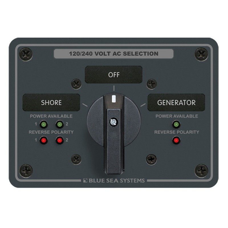 Blue Sea AC Rotary Switch Panel 65 Ampere 2 Positions - OFF- 4 Pole