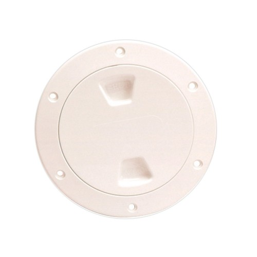 Beckson 4- Smooth Center Screw-Out Deck Plate - Beige
