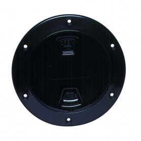Beckson 4- Smooth Center Screw-Out Deck Plate - Black