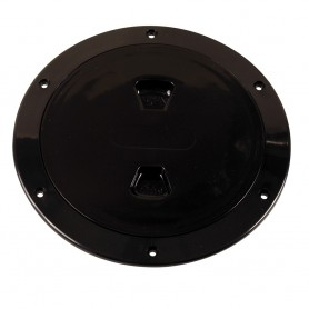 Beckson 6- Smooth Center Screw-Out Deck Plate - Black