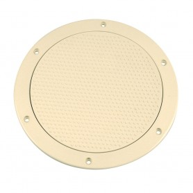 Beckson 6- Non-Skid Screw-Out Deck Plate - Beige