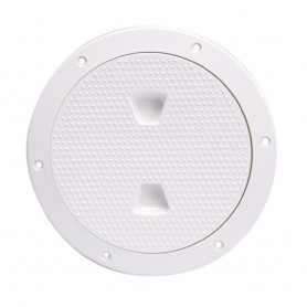 Beckson 6- Non-Skid Screw-Out Deck Plate - White