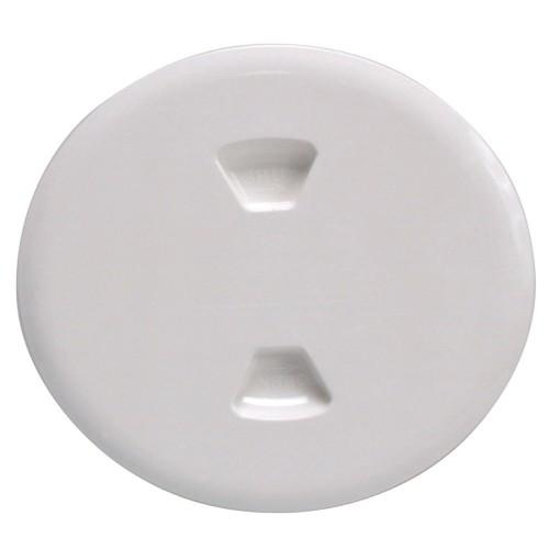 Beckson 5- Twist-Out Deck Plate - White