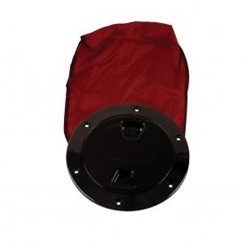 Beckson 4- Stow-Away Deck Plate - Black w-12- Bag