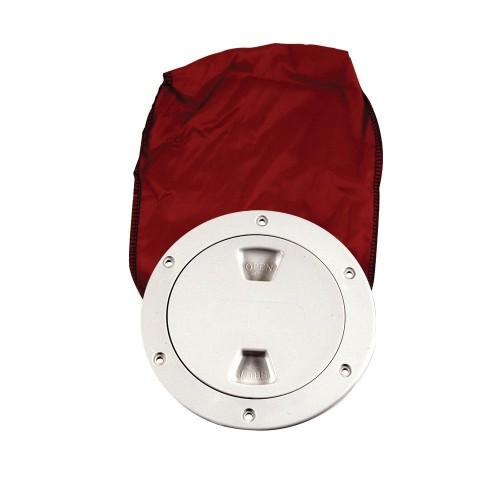 Beckson 4- Stow-Away Deck Plate - White w-12- Bag