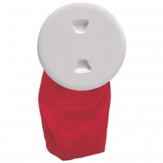 Beckson 5- Stow-Away Deck Plate - White w-12- Bag