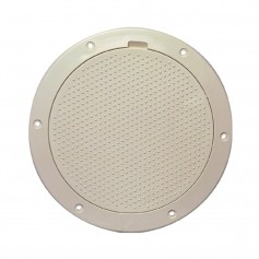 Beckson 6- Non-Skid Pry-Out Deck Plate - Beige