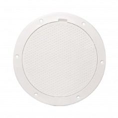Beckson 6- Non-Skid Pry-Out Deck Plate - White