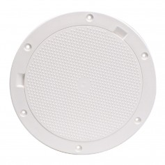 Beckson 8- Non-Skid Pry-Out Deck Plate - White