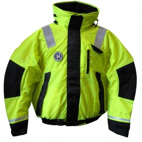First Watch Hi-Vis Flotation Bomber Jacket - Hi-Vis Yellow-Black - XX-Large