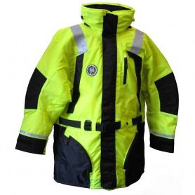 First Watch Hi-Vis Flotation Coat - Hi-Vis Yellow-Black - Large