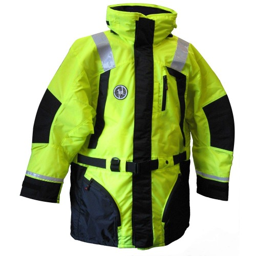 First Watch Hi-Vis Flotation Coat - Hi-Vis Yellow-Black - X-Large