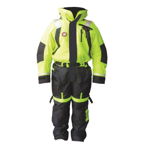 First Watch Anti-Exposure Suit - Hi-Vis Yellow-Black - Large