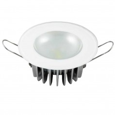 Lumitec Mirage - Flush Mount Down Light - Glass Finish-No Bezel - 4-Color Red-Blue-Purple Non Dimming w-White Dimming