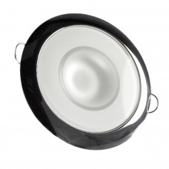 Lumitec Mirage - Flush Mount Down Light - Glass Finish-Polished SS Bezel - White Non-Dimming