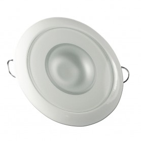 Lumitec Mirage - Flush Mount Down Light - Glass Finish-White Bezel - 3-Color Red-Blue Non-Dimming w-White Dimming