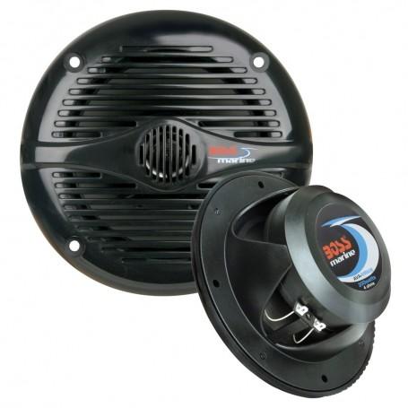 Boss Audio MR50B 5-25- Round Marine Speakers - -Pair- Black