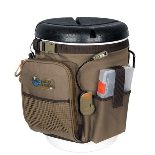 Wild River RIGGER 5 Gallon Bucket Organizer w-Lights- Plier Holder - Lanyard- 2 PT3500 Trays - Bucket w-Seat