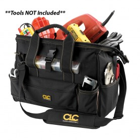 CLC 1534 16- Tool Bag w- Top-Side Plastic Parts Tray