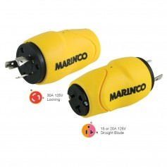 Marinco Straight Adapter- 30A Male - 15A Female