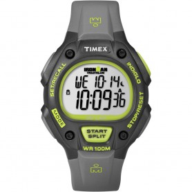Timex Ironman 30-Lap Full-Size - Grey-Neon Green